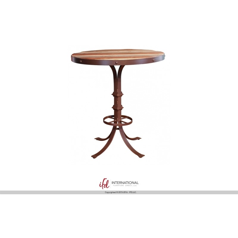 Bistro Table Base w/Footrest & Shelves