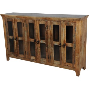 Glass Bookcase Sideboard