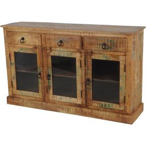 Sawan 3 Drawer 3 Door Bookcase Sideboard