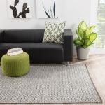 Nirvana Foster Indoor/ Outdoor Trellis Gray/ White Area Rug (8'10