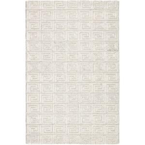 Capital Harkness Handmade Geometric White/Gray Area Rug - 5'X8'