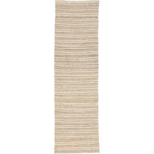 Andes Cornwall Natural Stripe Beige/ Blue Runner Rug (2'6