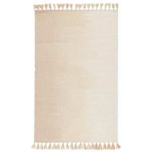 Adair Flats Handmade Geometric Ivory/ Taupe Area Rug (2'X3')