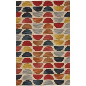 Amado Vibe by  Carson Handmade Geometric Multicolor Area Rug (10'X14')