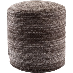 Amarillo Duro Stripes Gray/ Brown Cylinder Pouf