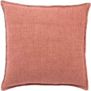 Burbank Blanche Solid Red Down Throw Pillow 22 inch