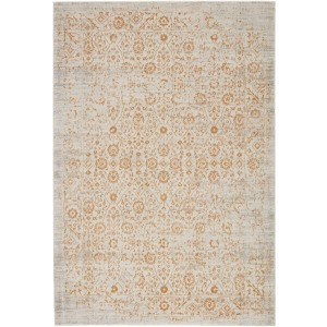 "Cirque Jasiel Trellis Gold/ Light Gray Area Rug (7'6""X9'6"")"