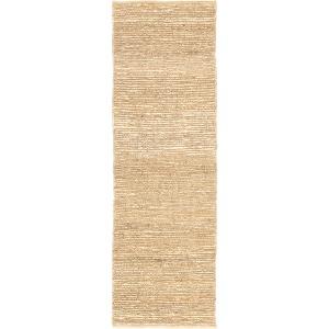 Calypso Havana Natural Solid Beige Runner Rug (2'6