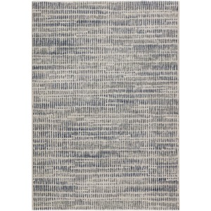 "Dash Escape Abstract Gray/ Blue Area Rug (7'10""X10'10"")"