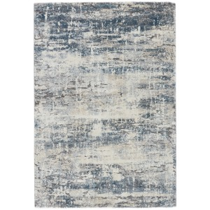 Ferris Vibe by  Benton Abstract Blue/ Gray Area Rug (9'6