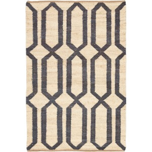 Feza Luxor Natural Trellis Cream/ Blue Area Rug (8'X10')