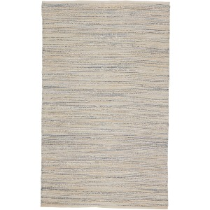 Himalaya Canterbury Natural Stripe White/ Blue Area Rug (8'X10')