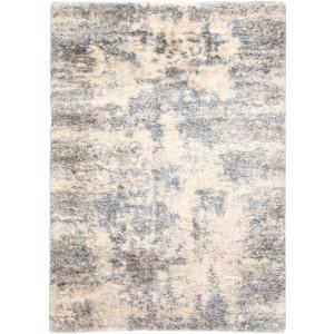 Lyra Harmony Abstract Light Gray/ Blue Area Rug (5'3