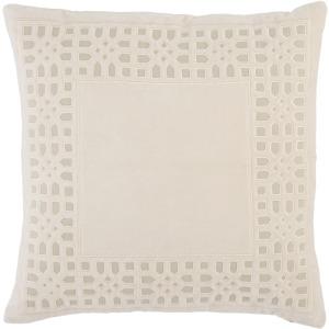 Mezza Azilane Trellis Beige/ Light Gray Poly Throw Pillow 22 inch