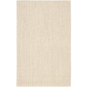 Naturals Sanibel Naples Natural Solid White/ Taupe Area Rug (8'X10')