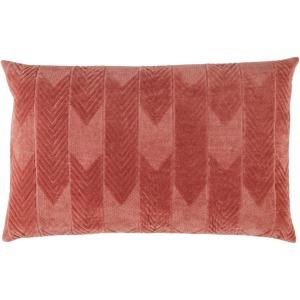 Nouveau Bourdelle Chevron Pink Poly Lumbar Pillow