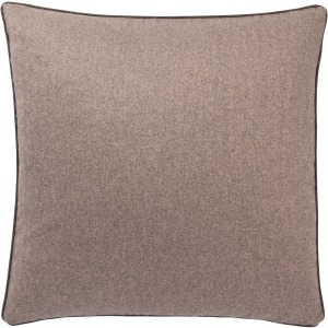 Pilcro Rollins Solid Light Brown Poly Fill Throw Pillow 22 inch