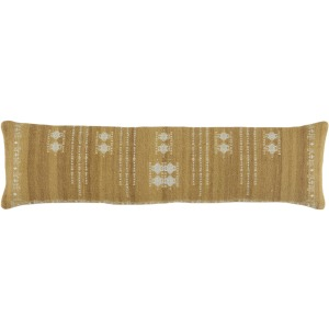 Puebla Eisa Tribal Light Green/ Light Gray Poly Lumbar Pillow