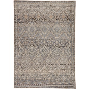 Valentia Cashel Tribal Gray/ Dark Blue Area Rug (8'X10')