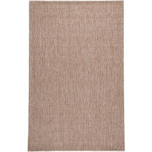 Wisteria Jardin Indoor/ Outdoor Solid Tan/ White Area Rug (5'X8')