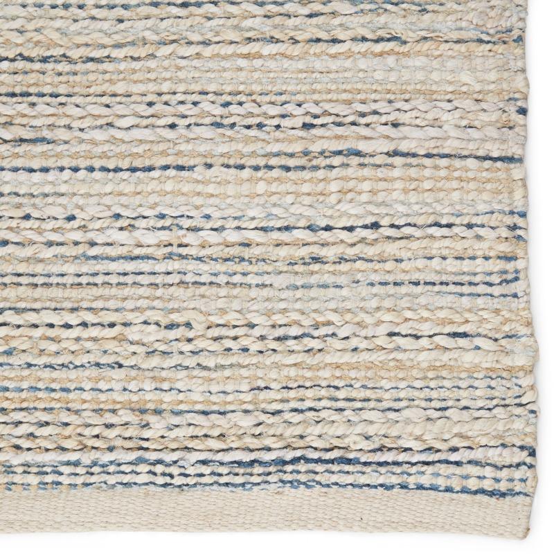 Himalaya Canterbury Natural Stripe White/ Blue Area Rug (8'X10')