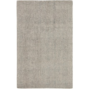Britta Oland Handmade Solid White/ Light Blue Area Rug - 5'X8'