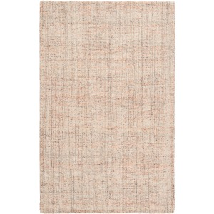 Citgo Ritz Handmade Solid Orange/ Ivory Area Rug - 5'X8'