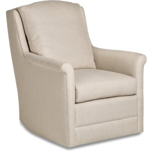 Casey Swivel Rocker with Modern Rolled Arms