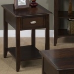 Merlot Chairside Table for Small Spaces