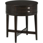 Miniatures - Kent County Round End Table with One Drawer