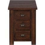 Urban Lodge Brown Chairside Table with 3 Drawers