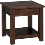 Urban Lodge Brown Casual End Table with One Drawer and One Shelf