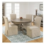 Slater Mill Pine Slipcover Chairs and Round Table Set