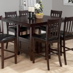 Tessa Chianti Casual Square Counter Height Table with Pedestal Storage