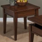 Dunbar Oak Casual Styled End Table with Oak Veneers