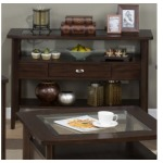 Montego Merlot Sofa Table with Glass Top