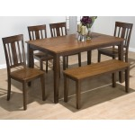 Solid Rubberwood Rectangle Table with Sabre Leg