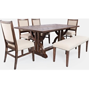 Fairview Dining Table & Chair Set w/Bench