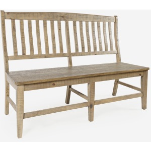 Carlyle Crossing Slatback Dining Bench