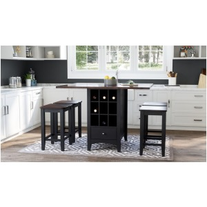 Asbury Park 5 PC Counter Height Table & Stool Set