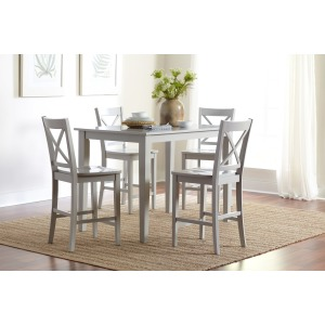 Simplicity Rectangle Counter-Height Table and Chair Set