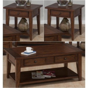 Clay County Oak 3 PC Occasional Table Set