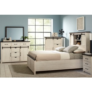 Madison County 3 PC Queen Storage Bedroom Set