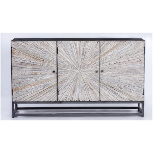 Astral Plains Reclaimed 3 Door Accent Cabinet - Grey Wash