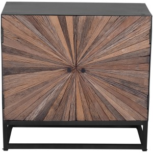 Astral Plains 2 Door Accent Cabinet - Natural Finish