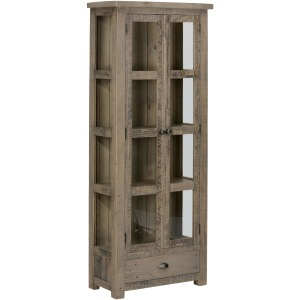 Slater Mill Pine Tall Kitchen or Dining Room Display Cupboard