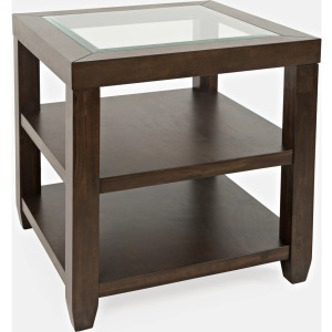 Urban Icon End Table - Merlot