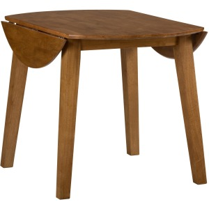 Simplicity Round Drop Leaf Table that Seats 4 for Dining Areas