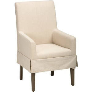 Hampton Road Slipcovered Dining Chair w/Arms