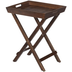 Urban Lodge Brown Folding Accent Tray with Handles